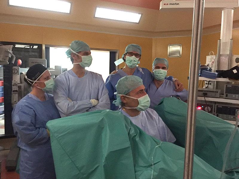 Dr. Gavazzi Dr. Belba Dr. Ferrari Dr. Ghidini al Centro Oncologico Fiorentino
