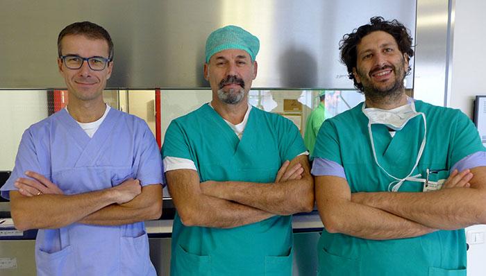 Da sx: Dott. Nicola Ghidini, Dott. Rosario Piazza, Dott. Lorenzo Gatti